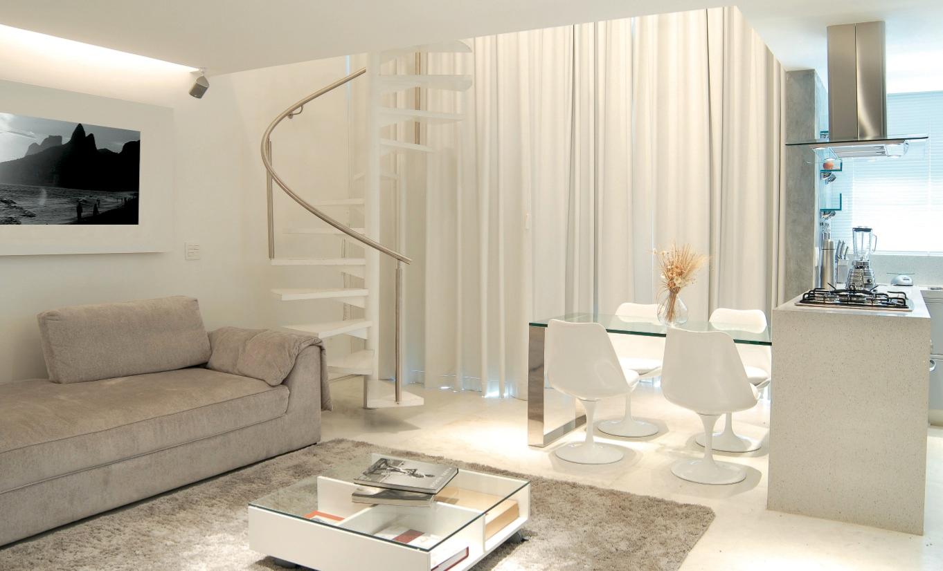 Cozinha integrada com a sala giacomelli blog for Modelos de apartamentos pequenos modernos